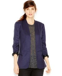 Rachel Rachel Roy U Back Tuxedo Jacket Blue Grey