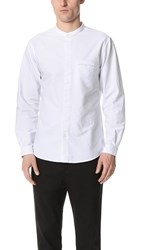 Shades Of Grey Band Collar Shirt White