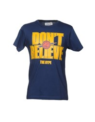 Upper Playground Topwear T Shirts Dark Blue