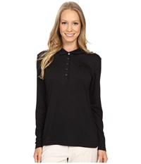 Puma Long Sleeve Polo Black Women's Long Sleeve Pullover
