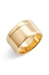 Metal Stone Women's And Cigar Band Ring