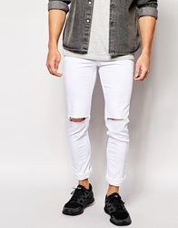 Hype Skinny Ripped Jeans White