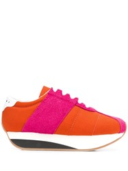 Marni Flatform Sneakers Orange