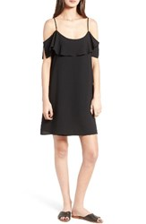One Clothing Women's Ruffle Cold Shoulder Dress