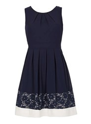 Dorothy Perkins Izabel London Navy Sleeveless Lace Dress