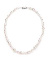 Mikimoto 4.5Mm 8.5Mm White Cultured Akoya Pearl And 18K White Gold Strand Necklace