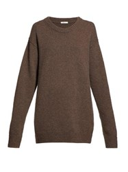 The Row Vaya Oversized Cashmere Sweater Brown