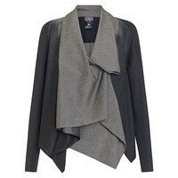 Crea Concept Colourblock Waterfall Drape Jacket Grey Taupe