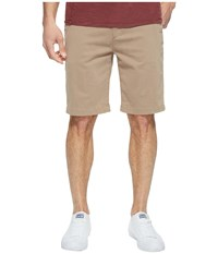 7 For All Mankind Luxe Performance Sateen Chino Shorts Light Khaki Men's Shorts