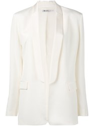 Alexander Wang T By Shawl Collar Blazer Women Silk Polyester 0 Nude Neutrals