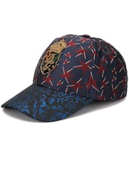 Dolce And Gabbana Star Design Jacquard Baseball Cap Blue