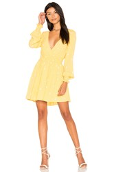 For Love And Lemons Chiquita Long Sleeve Dress Yellow