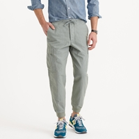 J.Crew Cargo Jogger Pant In Cotton Linen