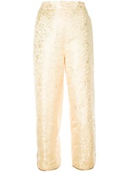 H Beauty And Youth Floral Print Pants Yellow Orange