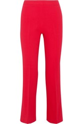 Giambattista Valli Cropped Stretch Crepe Flared Pants