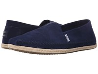 Toms Seasonal Classics Navy Suede Men's Slip On Shoes Blue