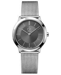 Calvin Klein Watch Men's Swiss Minimal Stainless Steel Mesh Bracelet 35Mm K3m22124