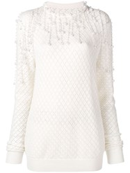 Christopher Kane Pearl Fringe Knit Neutrals