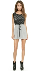 Liv Tank Dress With Lace Yoke Heather Grey