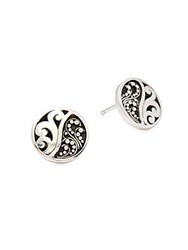 Lois Hill Sterling Silver Round Earrings