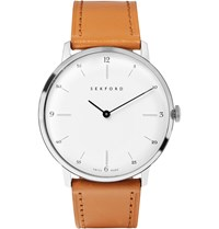 Sekford Type 1A Stainless Steel And Leather Watch Brown