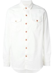Off White Golden Button Shirt