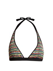 Missoni Mare Riga Striped Knit Bikini Top Multi