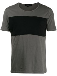 Unconditional Contrast Panelled T Shirt Green