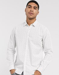 Esprit Ditsy Print Shirt In White