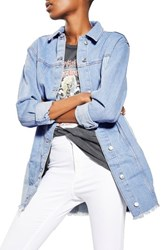 Topshop Women's Colorblock Denim Jacket
