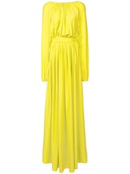 Vionnet Draped Maxi Dress Green