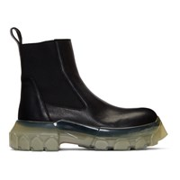 Rick Owens Black And Transparent Tractor Beetle Boots