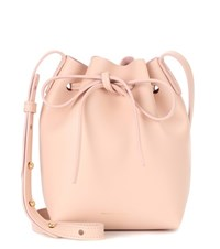 Mansur Gavriel Mini Mini Leather Bucket Bag Pink