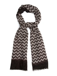 Richard James Geometric Print Cashmere Scarf