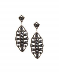 Bavna Spinel And Champagne Diamond Marquise Drop Earrings