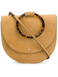 Theory Round Satchel Bag Nude And Neutrals