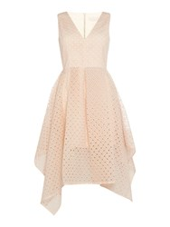 Keepsake Mini Frilly Fit And Flare Dress Peach