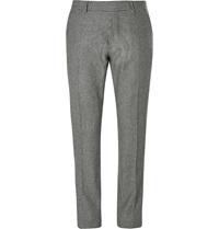 Tom Ford Slim Fit Houndstooth Wool Trousers Black