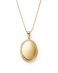 Bloomingdale's 14K Yellow Gold Oval Locket Necklace 22