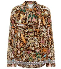 Camilla Leopard Print Silk Shirt Multicoloured