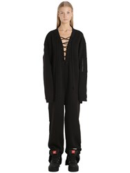 Fenty X Puma Lace Up Cotton Fleece Jumpsuit