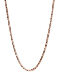 Macy's 14K Rose Gold Necklace 20' Wheat Chain