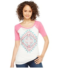 Rock And Roll Cowgirl 1 2 Sleeve Tee 49T2104 Hot Pink Women's T Shirt