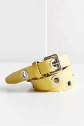 Urban Outfitters Skinny Grommet Belt Yellow