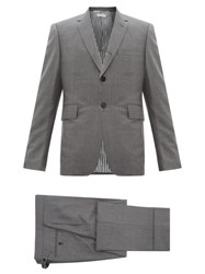 Thom Browne Single Breasted Wool Twill Suit And Tie Grey