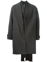 Isabel Benenato Knitted Cape Coat Brown