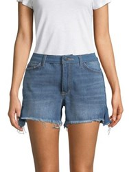 Sam Edelman The Bootie Hi Rise Denim Shorts Distressed