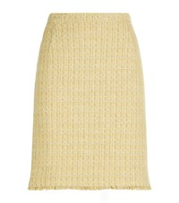 Max Mara Weekend Boucle Pencil Skirt Female Yellow
