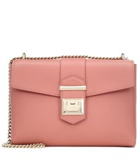 Jimmy Choo Marianne Leather Shoulder Bag Pink