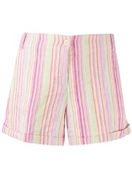 Aspesi Striped Short Shorts Pink